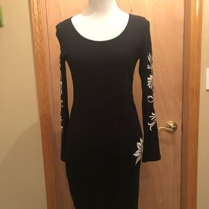 Black designed dress